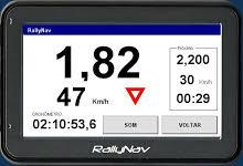 RallyNav: programa que funciona em GPS.