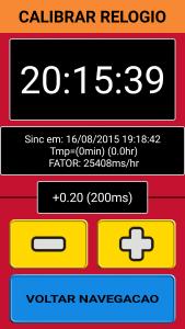 Fator de calibragem do relógio (Imagem 12)