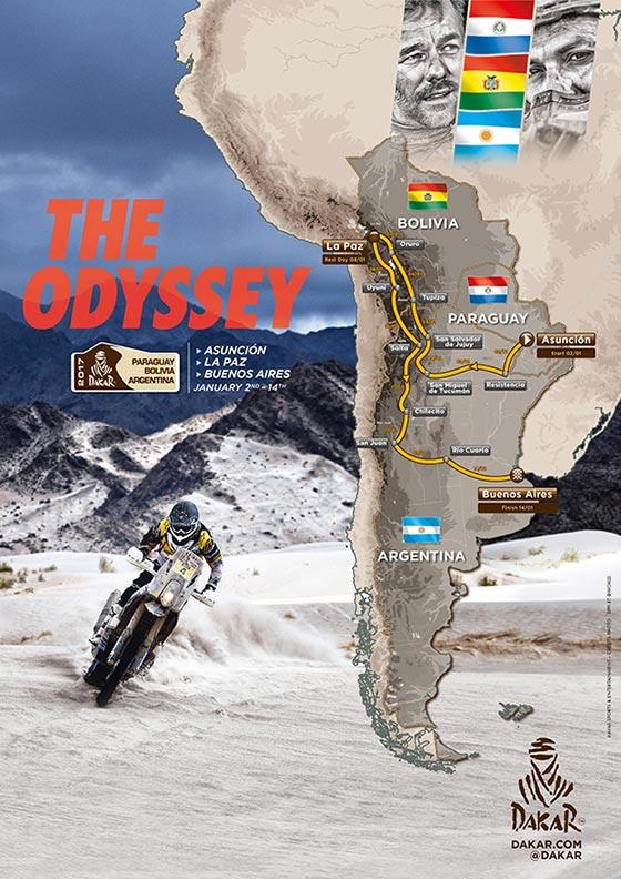 Percurso Dakar 2017