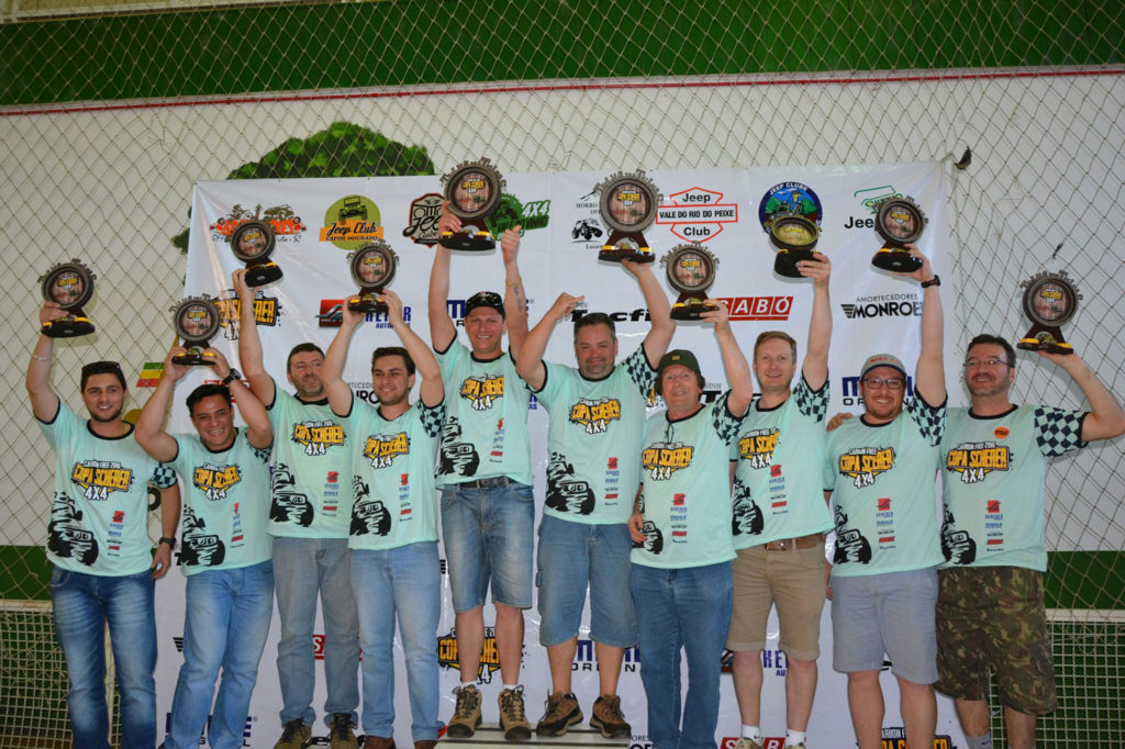 Vencedores Categoria A. Crédito Fotos: Flávio Brasil/Copa Scherer 4x4