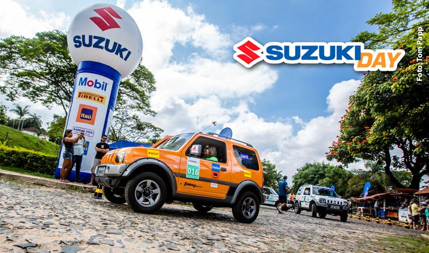 Belas paisagens e trechos off-road vão animar famílias e amigos no passeio Suzuki Day