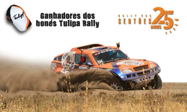 Confira os ganhadores dos Bonés do Tulipa Rally – Rally dos Sertões 25 anos