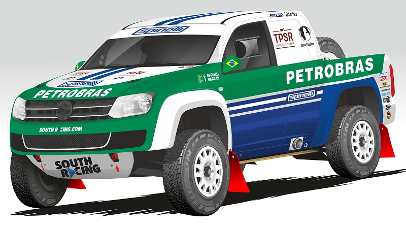 Layout Petrobras Rally Team - Baja Italia